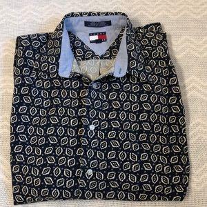Tommy Hilfiger shirt size XL navy w/white pattern